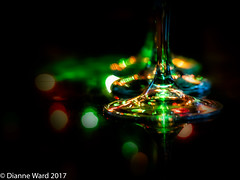 Day 6/365 Holiday Glasses (Tewmom) Tags: holiday light wineglass glasses 365the2017edition 3652017 day6365 6jan17 bokeh glass blackbackground