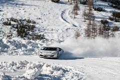 Snow Drifting (Nico K. Photography) Tags: lamborghini huracán lp6104 white snow drifting supercars nicokphotography italy livigno