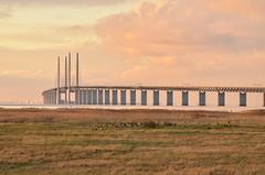 Öresund bridge at dusk (chalkf0x) Tags: öresundsbro malmö øresundsbron bridge oresundbridge copenhagen köpenhaven