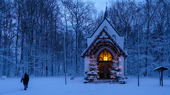 little church in the wildwood (Werner Schnell Images (2.stream)) Tags: ws kapelle chapel chapelle dörnschlade wenden winter schnee snow
