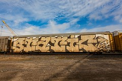 (o texano) Tags: houston texas graffiti trains freights bench benching static wholecar