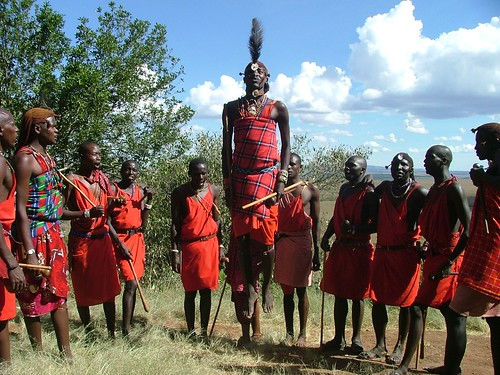 Maasai Warriors Dancing