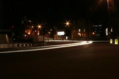 Fast Car (fabbio) Tags: urban london night speed lights creepy hackney nophotoshop canoneos350d  oldstreet  slowshutterspeed flashgordon oldstreetroundabout lighttrail      ahaaah nighturbanlights grouplondonalt