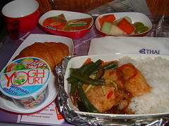 Thai Airways Breakfast (Danburg Murmur) Tags: food breakfast yoghurt yogurt airborne thaiairways airlinefood