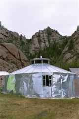 kitchen ger (minicloud) Tags: 2001 kitchen silver aluminum ufo mongolia ulaanbaatar ger gers