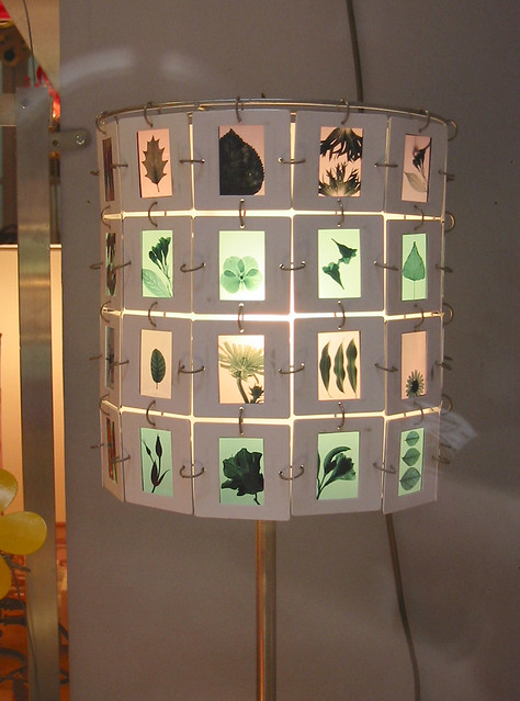 Slide lamp- green leaves