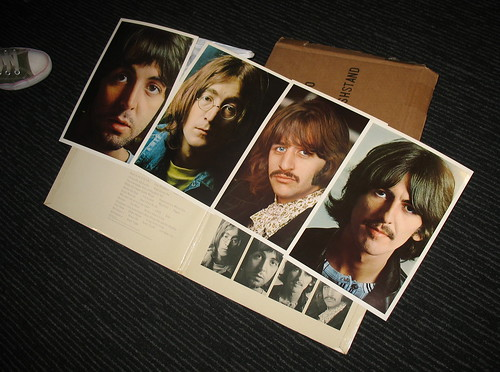 Beatles White Album, First Pressing No. 0000003 (Gatefold Double LP + insert prints), Brought Into Work by a Colleague 22-02-06