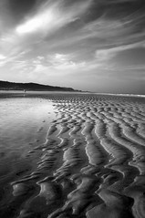 Lose yourself (Ray Byrne) Tags: sea blackandwhite bw beach water clouds canon wow landscape 350d coast north monotone northumberland shore alnmouth canon350d ripples northeast landscapephotography raybyrne byrneout