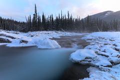 Elbow Falls Dec 10 2016 (1 of 2) (jonoandthehunt) Tags: waterfall explorealberta explorecanada snow mountains long exposure neutral density filter smooth