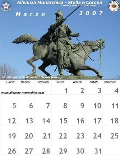 Calendario marzo  2007