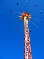 You spin me right round... (BadmoJoe) Tags: theme park amusement ride deleteme10 blue sky fun spin germany baltic topv111 hansa