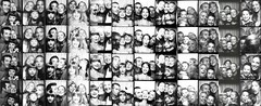 12 Years Of Photo Booth Strips : 2001-2012 (Neil Bernhart [dextr]) Tags: blackandwhite lauren us photobooth melanie neil fair scanned orangecountyfair brody topfav2005 sfav