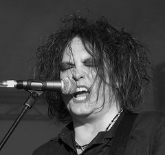 Robert Smith of The Cure (buschenhenke) Tags: music white black robert hair blackwhite concert guitar live cologne smith kln noflash jens scream singer cure koeln mikrofon robertsmith mikro jensbuschenhenke fridayiaminlove microphpon buschenhenke musicalframes