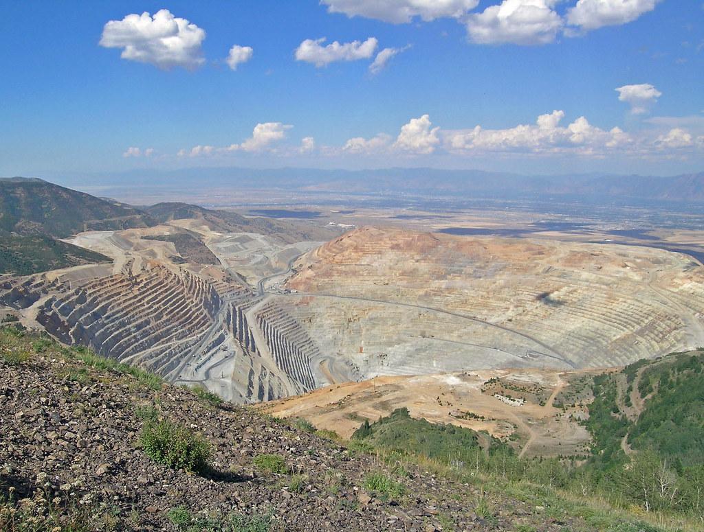 Mina Bingham Canyon Buraco Escavacao Cobre Utah Imagens Terra