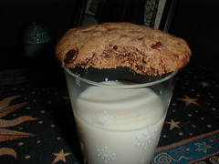 Vegan Chocolate Chip Cookie and Soymilk