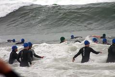 Giant Wave (swimmers for dinner!) (GasMunky) Tags: ocean swim wave triathlon wetsuit oxnard bigwave