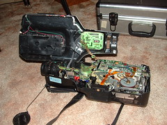 camcorder hackaday ge rippedapart