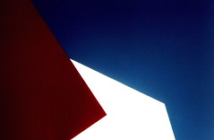 (shoegazer) Tags: sf blue red white abstract architecture k1000 minimal yerbabuena 2print a100f