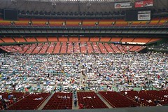 Katrina Refugees at the Astrodome - by tiger_in_houston