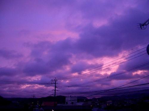 typhoon / 台風上陸中