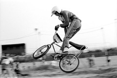 old-school moves, john george (rappensuncle) Tags: california light blackandwhite bw motion film sport 35mm vintage photo jump bmx minolta air trix hc110 scan developer motocross motomag rappensuncle osbmxandmotocross