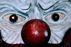 Close-up of Scary Clown