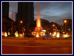 watercolors (Yato) Tags: original water fountain night indonesia landscape jakarta yato byyatoallrightsreserved beautifulinonesia
