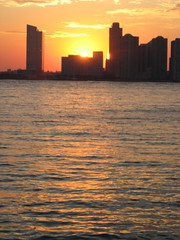 Sunset over Jersey City (Sagolla) Tags: 2005 september nyc newyorkcity