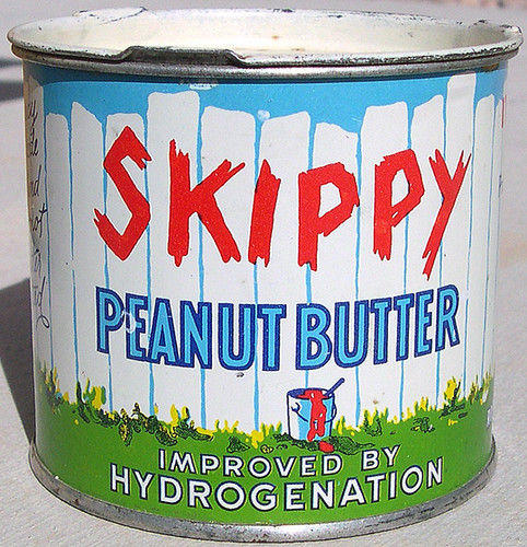Skippy Peanut Butter Tin Can, 1930's