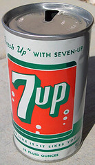 7UP Soda Can, 1960