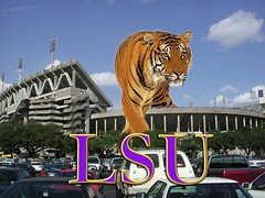 LSU (videovisionsla) Tags: wallpaper photoshop louisiana university tiger lsu batonrouge