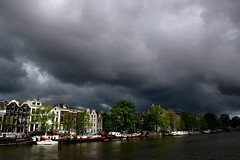 Evil is coming (Photochiel) Tags: clouds ominous sky canalhouses amstel amsterdam photochiel topf25