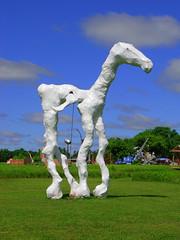 Technicolor Flying Horse (Olivander) Tags: sculpture art photoshop manipulated catchycolors geotagged outsider roadside technicolor photoshoppery franconiasculpturepark shafermn technicolorized geolat453793 geolon926848 utatablue utatagreen