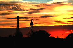night falls (Automatt) Tags: 2005 trip travel sunset red sky orange cloud black paris france color bird beautiful clouds contrast golden mood glow moody colours awesome surreal moo well lovely top20 silhoutte breathtaking fav10 favoritetwice clustershot qoop06 gettypick