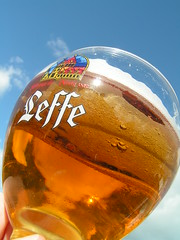 Leffe Blonde - perfect sunny day beer. Thanks to David Wilmot on Flickr for the photo.