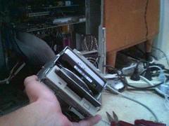 Hard Drive Container (Benjamin Ludman) Tags: computer harddrive surgery cameraphone