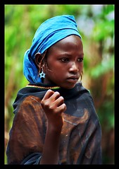 blue princess (janchan) Tags: africa blue portrait people woman black girl women princess retrato documentary nigeria donne mujeres ritratto reportage fulani theface hausa carrymehome blackribbonicon whitetaraproductions