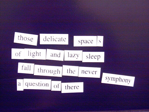 Magnetic Poetry #2