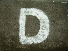 d oneletter (Photo: duncan on Flickr)