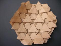 Hexagonal tessellation (Mlisande*) Tags: mountain triangle origami hexagonal mlisande tessellation