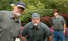 Like My Hats? (Jim Frazier) Tags: 2005 portrait people house selfportrait silly me hat gardens composite yard manipulated garden fun paintshop illinois clothing hilarious october funny humorous calendar gardening cloning humor hats ofme manipulation multiplicity cap portraiture clones stupid layers ouryard fedora curious batavia kane ourhouse bandana clone retouching mylife retouched ourhome z