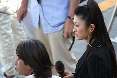 Ukyo Katayama(driver) and Yu Yamada(TV reporter)