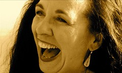 Guffah (.brian) Tags: auntdolly laughter emotions portrait face woman sepia