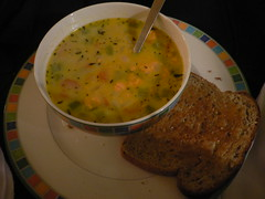 potato chowder made by Julia, delicious!
