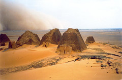 -Sandstorm over pyramids in Bajrawia- (Vt Hassan) Tags: africa city nature speed temple bravo sudan royal aerial sandstorm pyramids moment archeological sandstorms tstorm meroe tstorms bajrawia specland