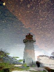 Lighthouse ((Alex)) Tags: lighthouse reflection water nova topc25 topv111 rock fantastic rocks novascotia scotia interestingness80 i500