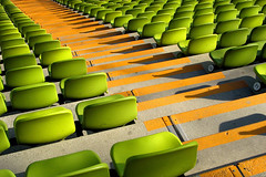 sold out! (SophieMuc) Tags: green wow munich savedbythedeletemegroup empty accepted1of100 been1of100 saveme10 seats nopeople1 olympiastadion topf500 onetopfave