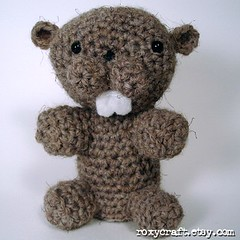 beaver 2 front (Roxycraft) Tags: amigurumi softies plush mos crochet handmade