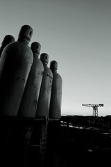 cylinders-and-crane (jimmymac363) Tags: clydebank theclyde glasgow shipyard riverclyde
