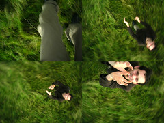 Multishot toss (_nod) Tags: selfportrait green me pentax documentary cameratossing toss optio cameratoss tossing multishot 33wr cameratossblogged